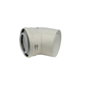Worcester Greenstar 90deg High Efficiency Elbow 125mm White