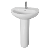 Complete 1 Tap Hole Basin, Pedestal, Tap and Waste Pack