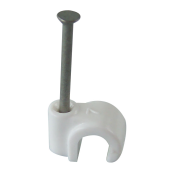 10mm Masonry Nail Pipe Clip (White)