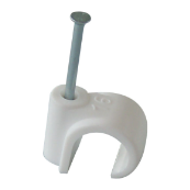22mm Masonry Nail Pipe Clip (White)
