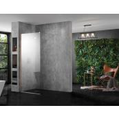INSPIRA AQUA Wetroom Panel Clear 900 10MM GLASS