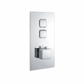 INSPIRA TWIN PUSH BUTTON VALVE SQUARE