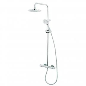 Deva Dynamic Cool Touch Bar Mixer Shower with Shower Kit + Fixed Head